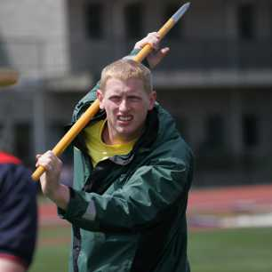 Cyrus Hostetler Warm up 2009 USA Championships javelin