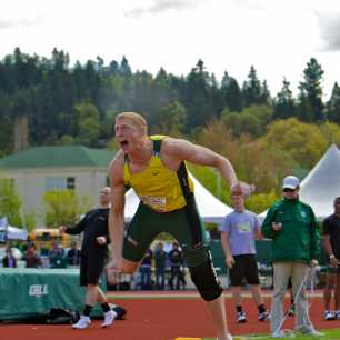Oregon's Hostetyler javelin.