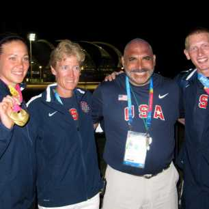 Javelin Medalists and Coaches