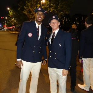 Cyrus Hostetler and Carmelo Anthony