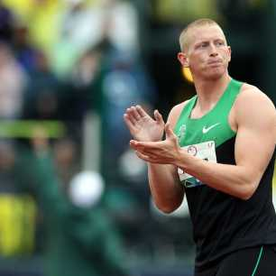 during Day Four of the 2012 U.S. Olympic Track & Field Team Trials at Hayward Field on June 25, 2012 in Eugene, Oregon.